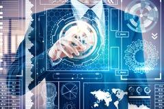 Concepto de la tecnología y del analytics Imagen de archivo libre de regalías