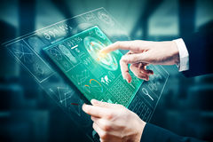 Concepto de la tecnología y del futuro stock de ilustración