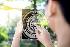 Concepto de la tecnolog?a de Digitaces imagenes de archivo