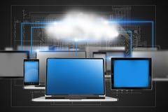 Concepto de la tecnología de la nube Fotografía de archivo libre de regalías