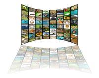 Concepto de la televisión imagenes de archivo
