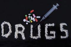 Concepto de la tenencia ilícita de drogas Fotos de archivo libres de regalías