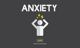 Concepto de la tensión de la tensión del desorden de la angustia de la ansiedad ilustración del vector