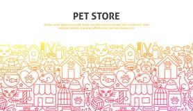 Concepto de la tienda del animal doméstico stock de ilustración