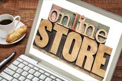 Concepto de la tienda en línea Imágenes de archivo libres de regalías