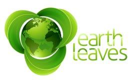 Concepto de la tierra del globo de las hojas Fotos de archivo libres de regalías