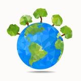 Concepto de la tierra verde Estilo poligonal Foto de archivo