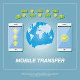 Concepto de la transferencia monetaria Imagen de archivo libre de regalías