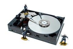 Concepto de la unidad de discos duros del ordenador para la seguridad Imágenes de archivo libres de regalías