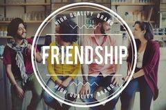 Concepto de la unidad de la felicidad de la juventud de la amistad del amigo Foto de archivo libre de regalías