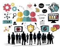 Concepto de la unidad del trabajo en equipo de Team Share Support Trust Help ilustración del vector