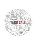 Concepto 1 de la venta de garaje Imágenes de archivo libres de regalías