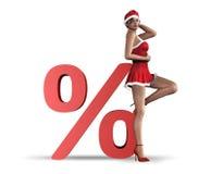 Concepto de la venta de la Navidad stock de ilustración