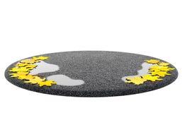 Concepto de la venta de la temporada de otoño del otoño Coloqúese (podio) con el lugar vacío Imagen de archivo libre de regalías