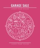 Concepto 3 de la venta de garaje Foto de archivo libre de regalías
