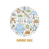 Concepto 1 de la venta de garaje del color Imagenes de archivo