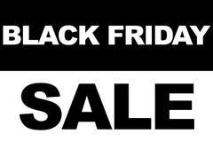 Concepto de la venta de las compras de Black Friday Ejemplo de la fecha de la venta Imagen de archivo
