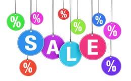 Concepto de la venta y del descuento de las compras Foto de archivo libre de regalías