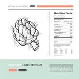 Concepto de la verdura del vector Fotografía de archivo libre de regalías