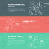 Concepto de la vigilancia Fotografía de archivo libre de regalías