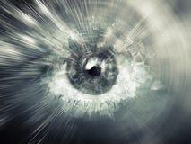 Concepto de la visión de Digitaces, ejemplo abstracto del ordenador Fotografía de archivo