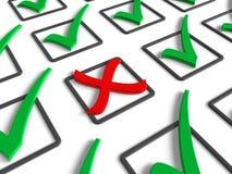 Concepto de la votación/del rechazamiento Fotografía de archivo libre de regalías