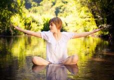 Concepto de la yoga foto de archivo libre de regalías