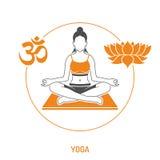 Concepto de la yoga y de la aptitud Fotos de archivo