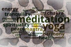 Concepto de la yoga y de la meditación imágenes de archivo libres de regalías