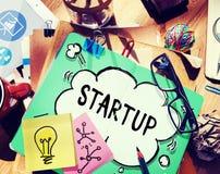 Concepto de lanzamiento de la inspiración de las ideas de la creatividad del plan empresarial imagen de archivo