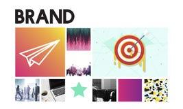 Concepto de lanzamiento de la marca del éxito del lanzamiento de la blanco de las metas Imagen de archivo