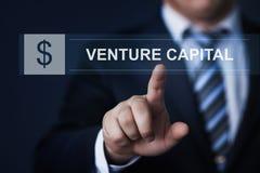 Concepto de lanzamiento de Internet de la tecnología del negocio de la financiación de la inversión de capital de riesgo  Foto de archivo