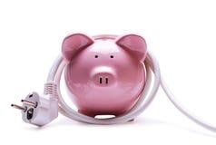 Concepto de las actividades bancarias en línea y de los ahorros Fotografía de archivo