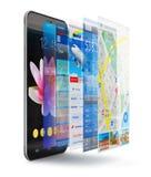 Concepto de las aplicaciones móviles Fotografía de archivo libre de regalías