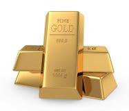 Concepto de las barras de oro 3d Imagen de archivo libre de regalías