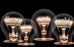 Concepto de las bombillas fotos de archivo