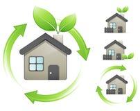 Concepto de las casas verdes libre illustration