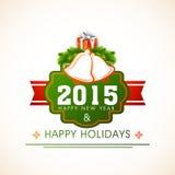 Concepto de las celebraciones de la Feliz Año Nuevo 2015 Foto de archivo libre de regalías