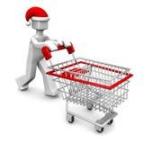 Concepto de las compras de la celebración de la Navidad Foto de archivo