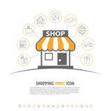 Concepto de las compras del Internet Fotos de archivo