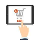 Concepto de las compras del Internet libre illustration