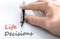 Concepto de las decisiones de la vida foto de archivo