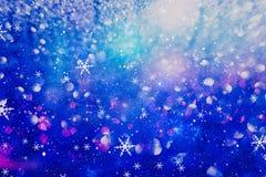 Concepto de las decoraciones del papel pintado de la Navidad contexto del festival del día de fiesta: exhibición encendida círcul Foto de archivo