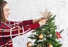 Concepto de las decoraciones de la celebración del Año Nuevo de la Navidad Foto de archivo