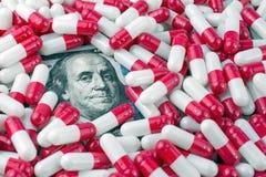 concepto de las drogas del precio alto  fotografía de archivo