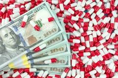 concepto de las drogas del precio alto  imagenes de archivo