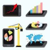 Concepto de las estadísticas de la aplicación móvil libre illustration