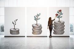 Concepto de las finanzas foto de archivo