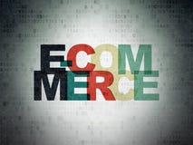 Concepto de las finanzas: Comercio electrónico en el papel de Digitaces Fotos de archivo