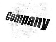 Concepto de las finanzas: Compañía en el fondo de Digitaces imagenes de archivo
